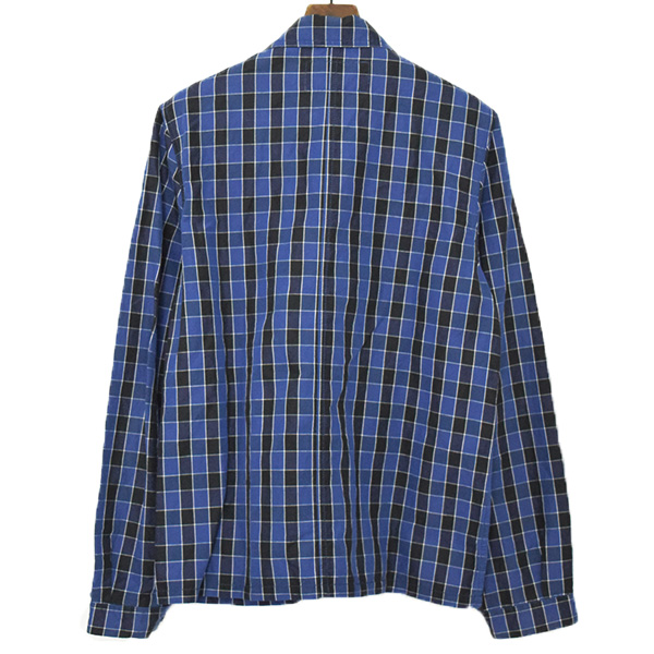 ブロックチェックシャツジャケット