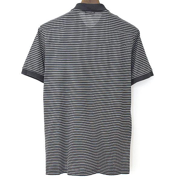 BEE刺繍ボーダーポロシャツ