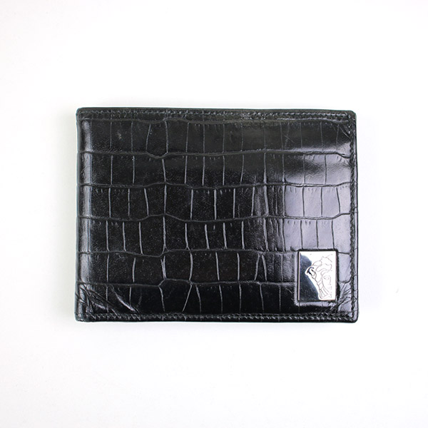 クロコレザーウォレット 二つ折り財布