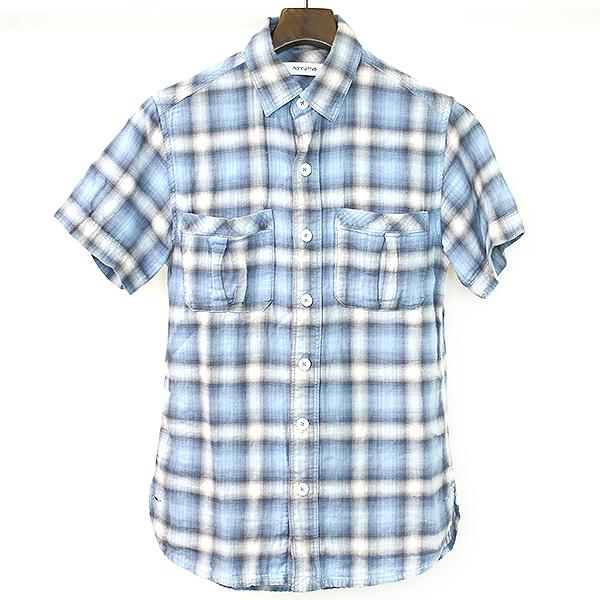チェック柄半袖ネルシャツ