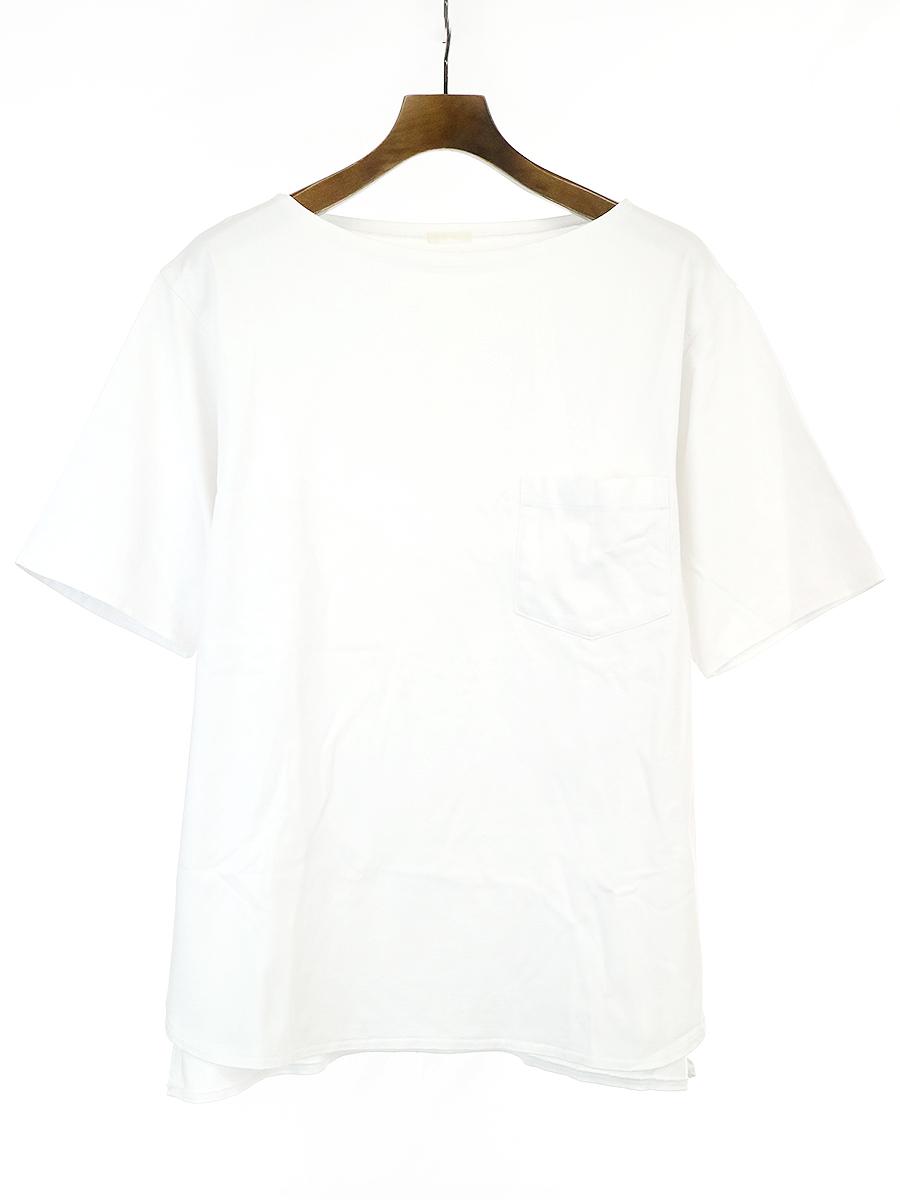ボートネックポケットTシャツ
