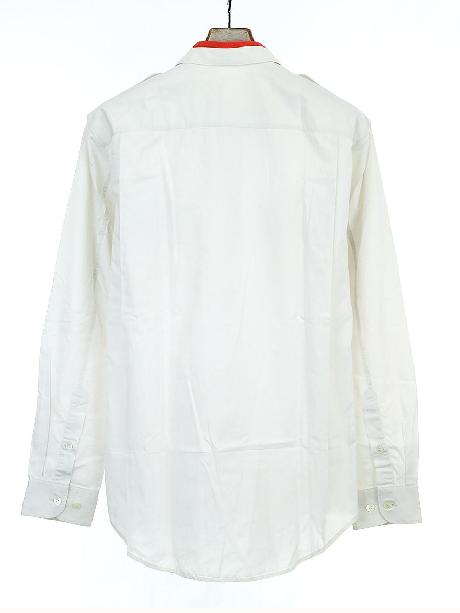 バイカラーミリタリー長袖シャツ