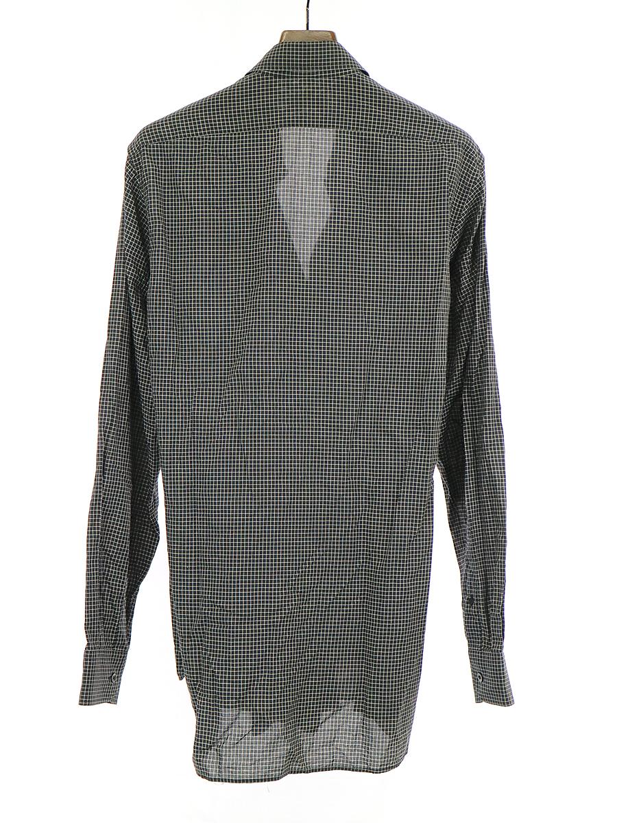 チェック柄レイヤード長袖シャツ