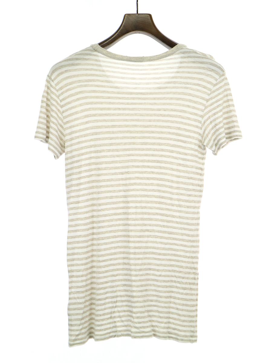 プリントデザインボーダーTシャツ