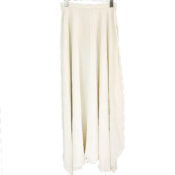 ウォッシュドクレープデシンプリーテッドスカート