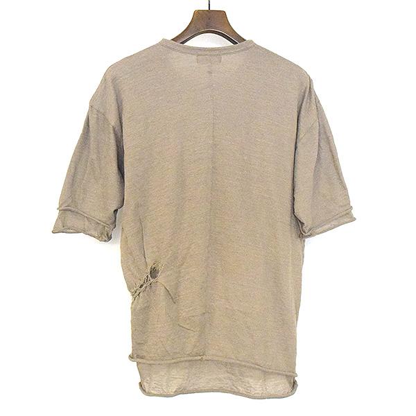 エステルリネンンMIX天竺レイヤードクルーネックTシャツ