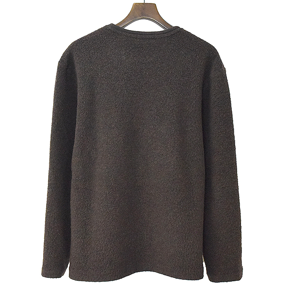 クルーネックウールフリースニットセーター