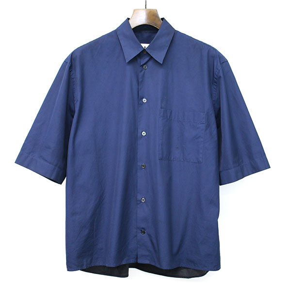 2トーンコットンポプリンショートスリーブシャツ