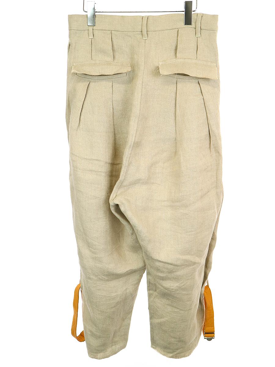 Cargo trousers レザーボンテージリネンパンツ