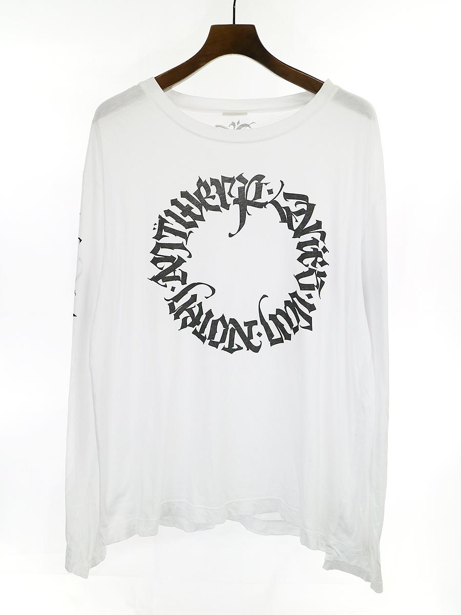 サークルロゴプリントロングスリーブTシャツ