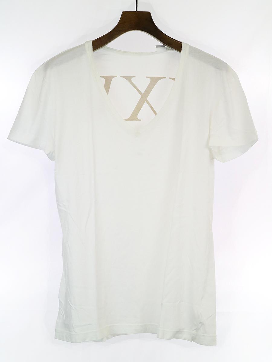 レオパード柄VネックTシャツ