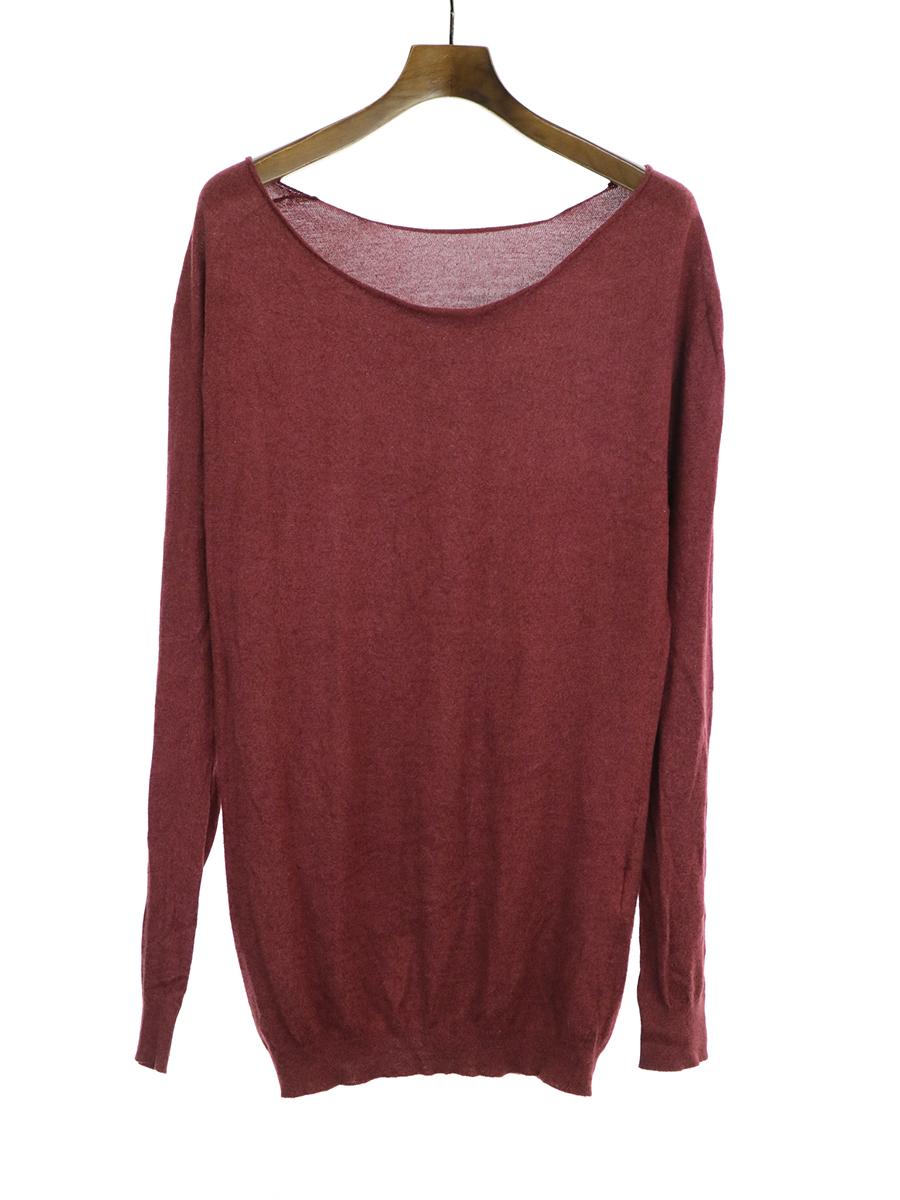 カットオフデザインニットセーター