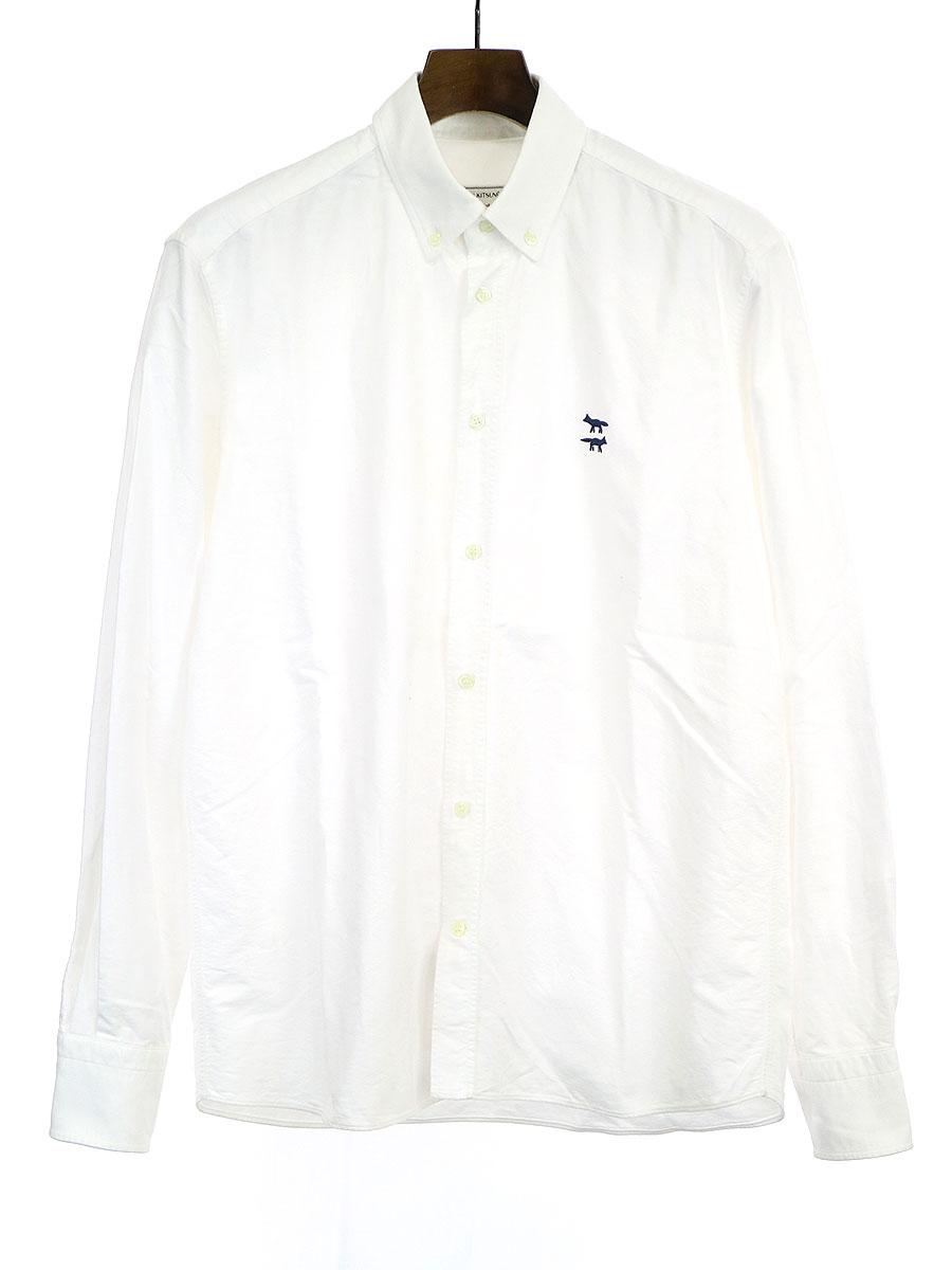 ワンポイント刺繍オックスフォードシャツ