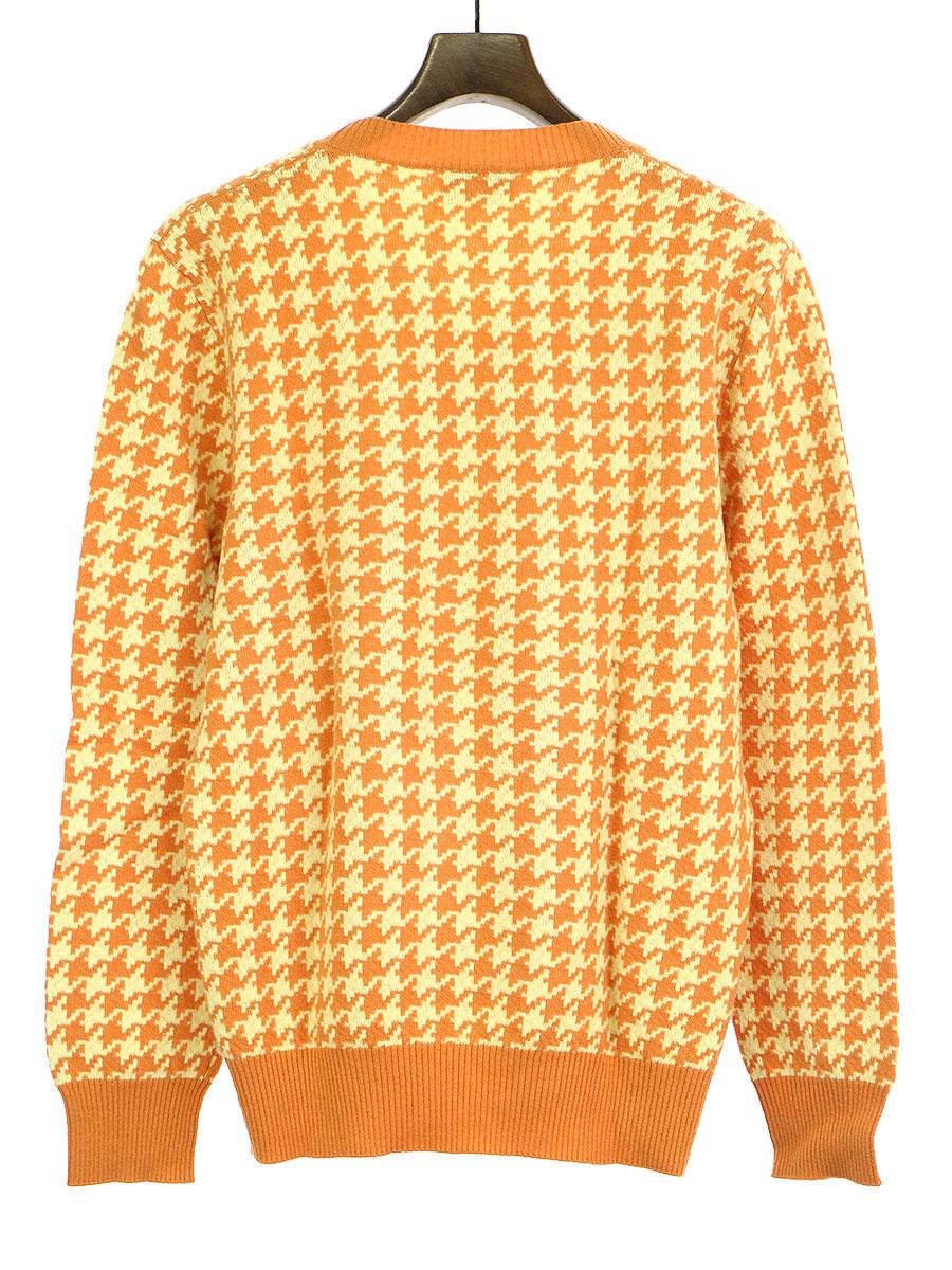 総柄カシミヤ混ニットセーター