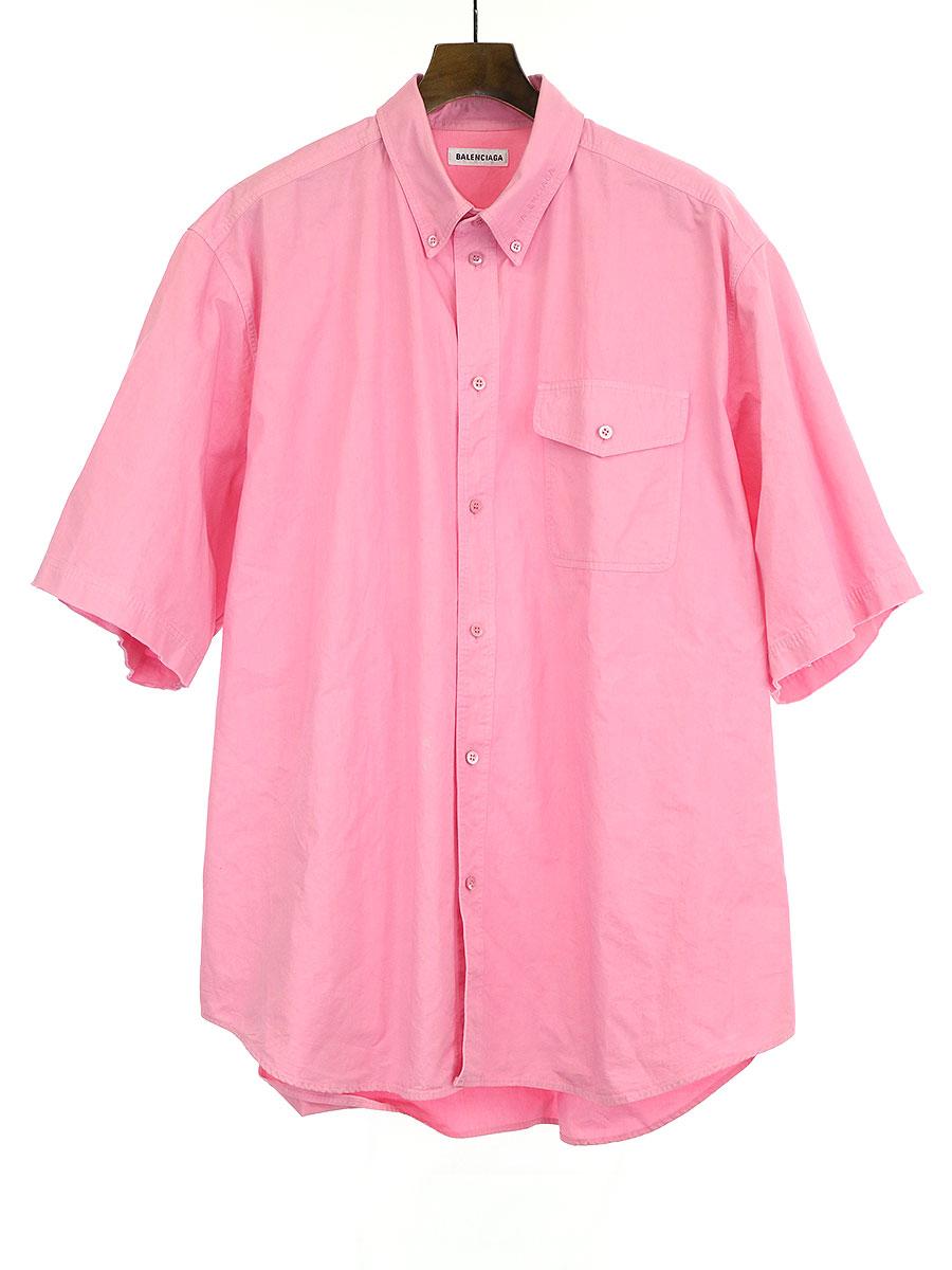 カットオフデザインオーバーサイズショートスリーブシャツ