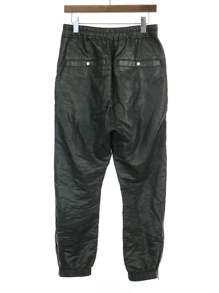 BABEL TRACK PANTS IN BLACK FEATURE コーティングサルエルトラックパンツ