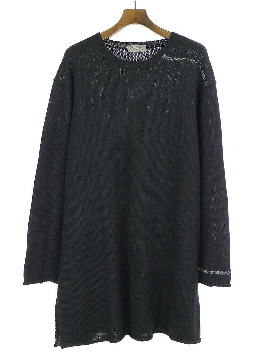 アルパカウールサイドスリットニットセーター