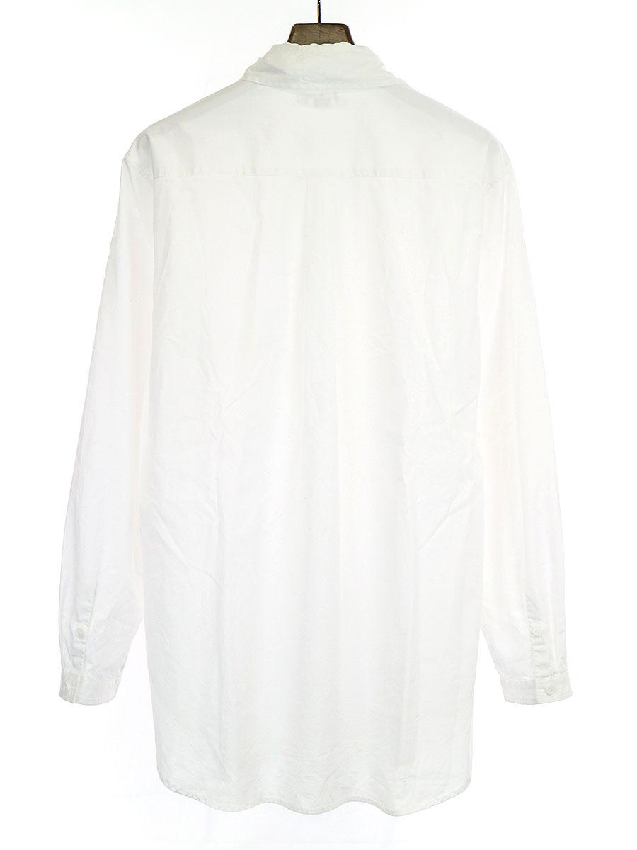 リボンドッキングコットンシャツ