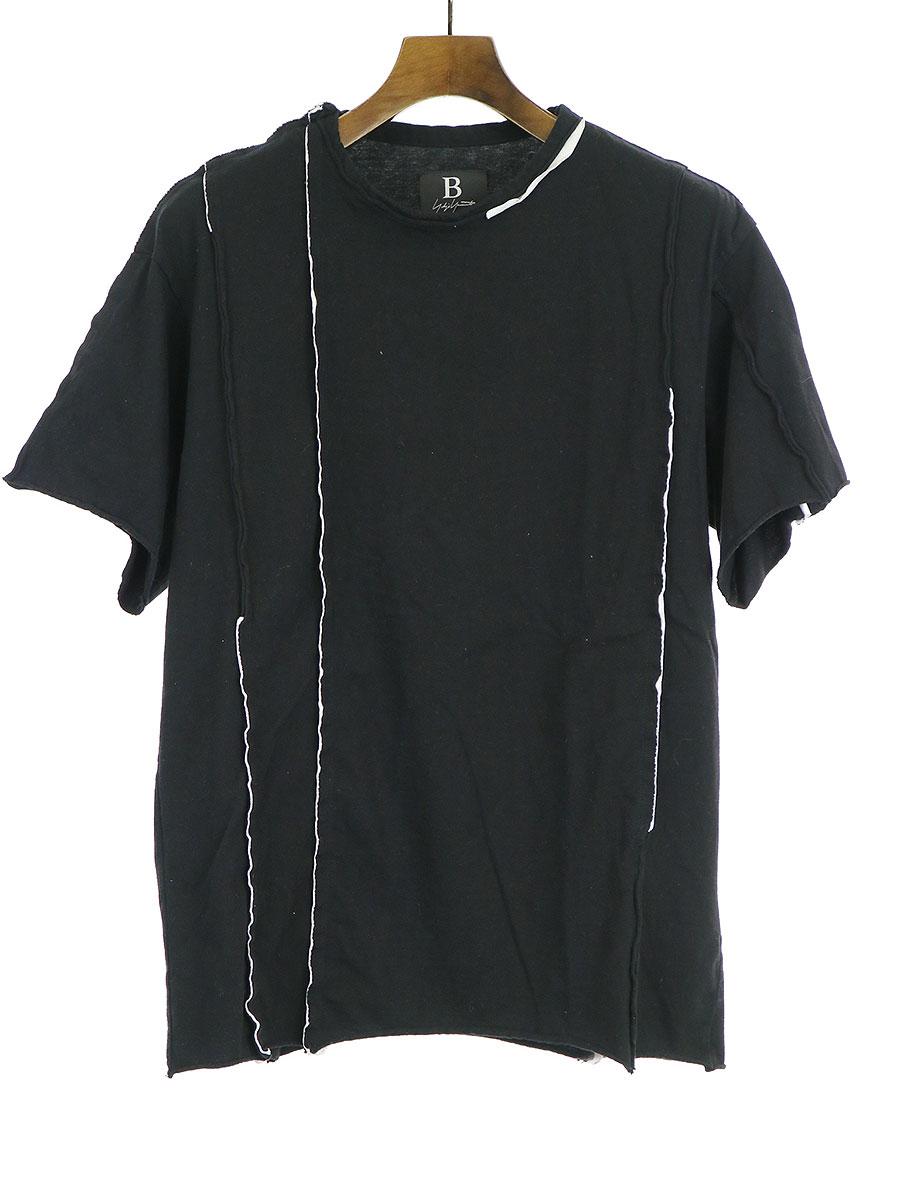 カットオフ縦線接ぎTシャツ