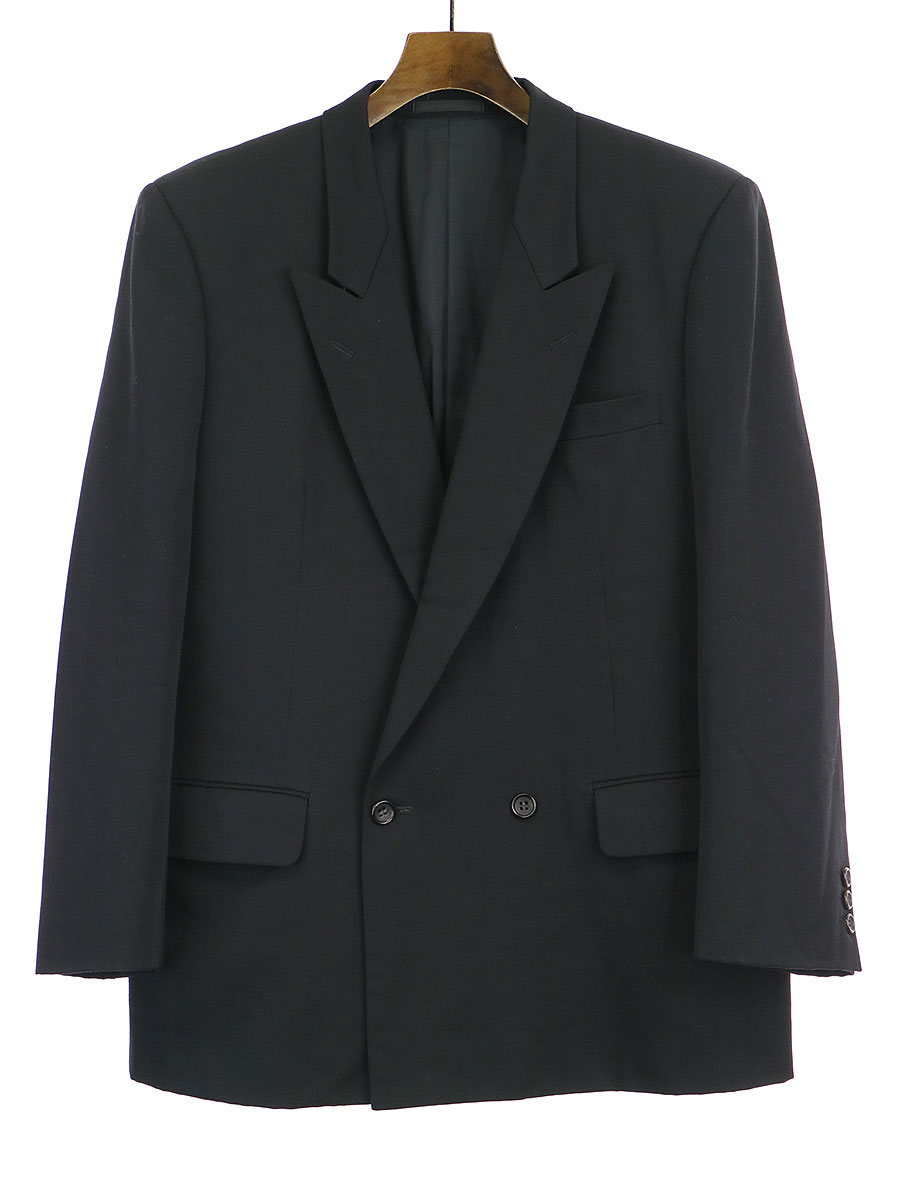 ピークドラペルダブルブレストジャケット