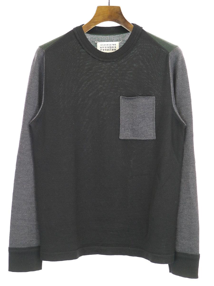 マルチカラークルーネックニットセーター