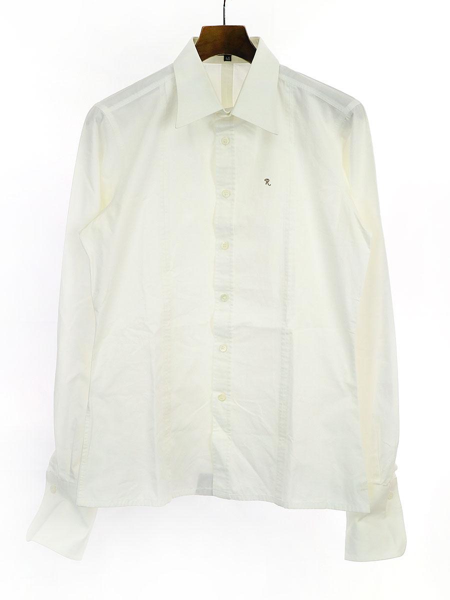 R刺繍 デザインロングスリーブシャツ