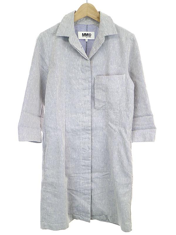 リネン混ロングシャツ