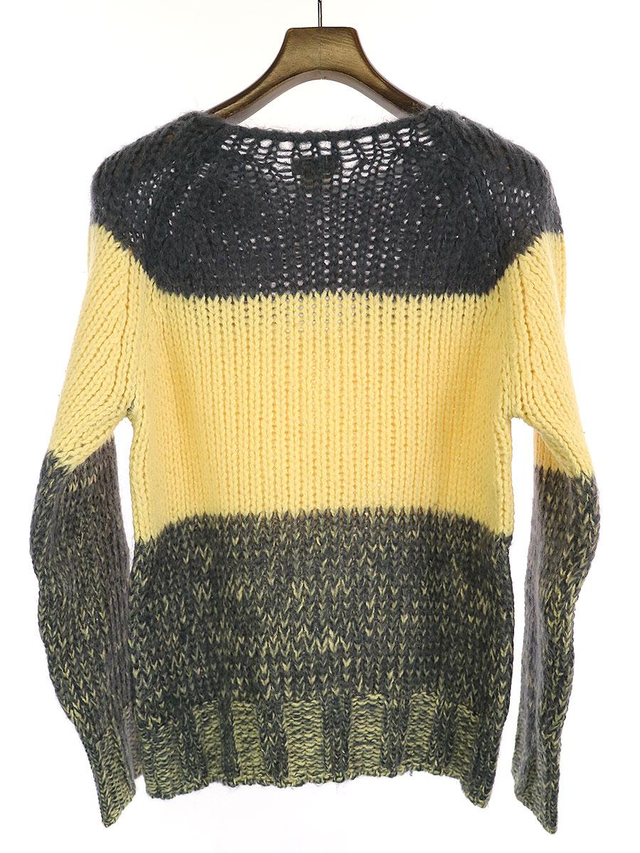 モヘア混カラーブロックニットセーター