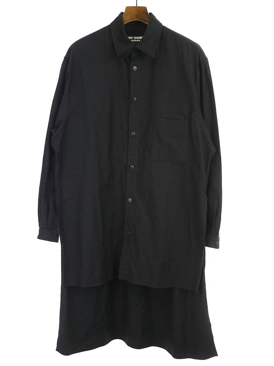 バックロゴプリントコットンツイルスタッフシャツ