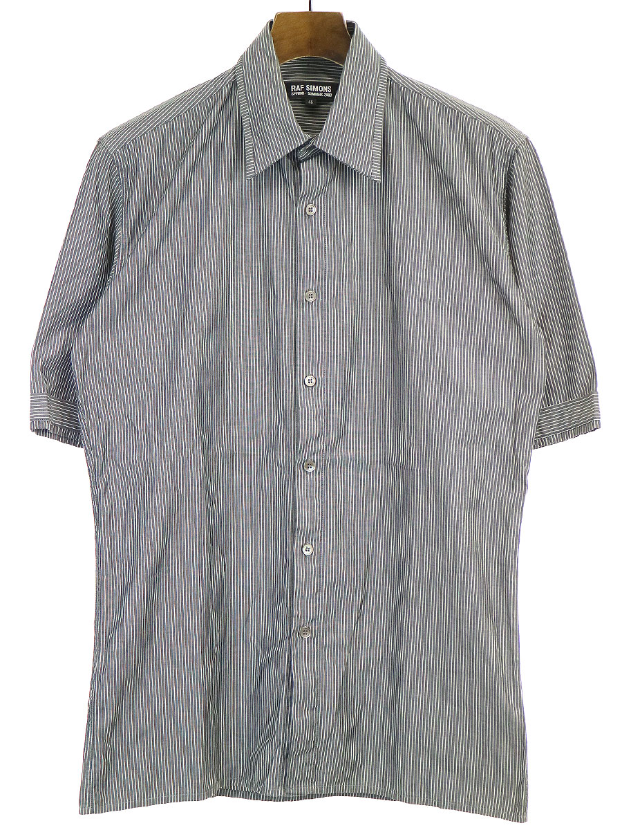 ストライプ柄ショートスリーブシャツ