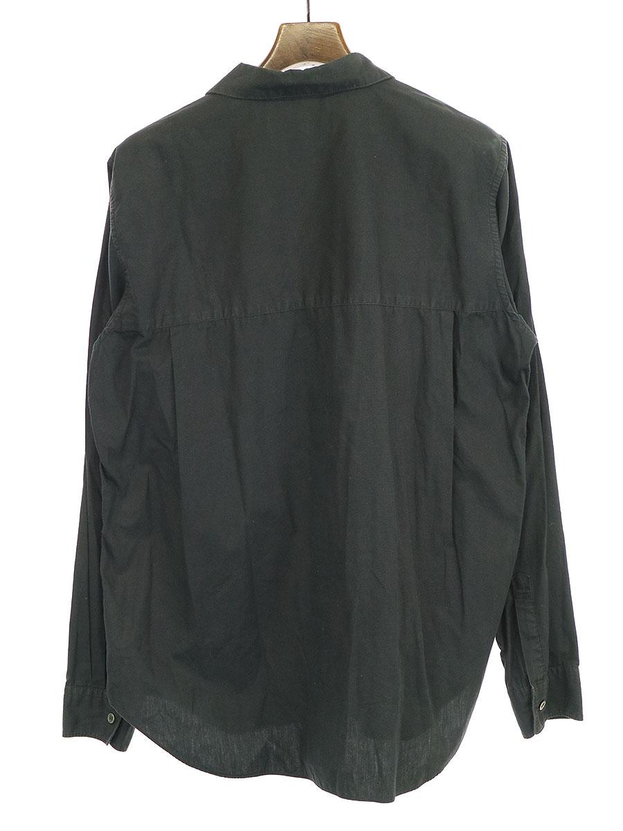 ラウンドカラーコットンブロードシャツ