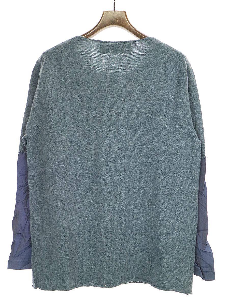 ドッキングスリーブウールニットセーター