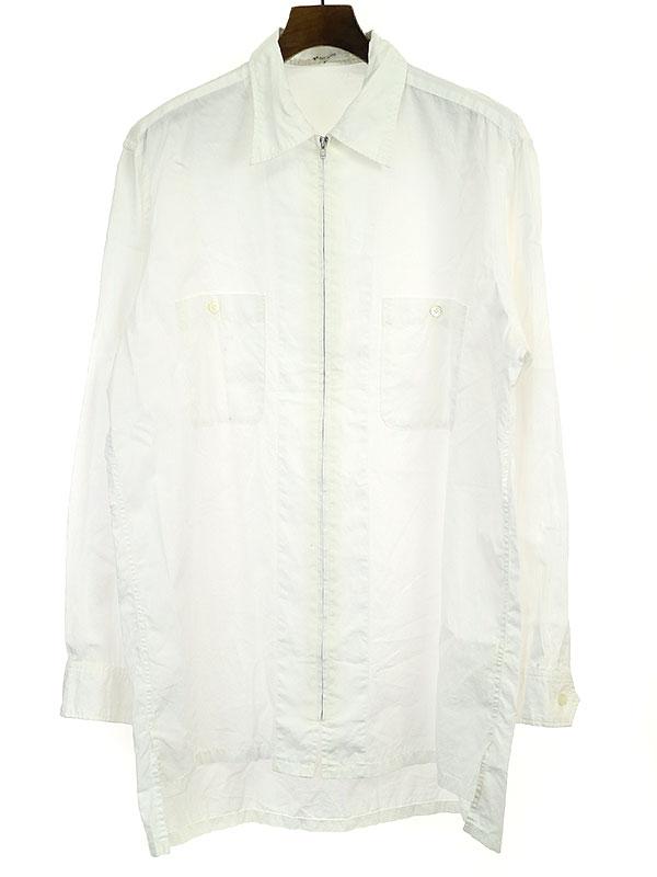ダブルポケットジップアップブロードシャツ