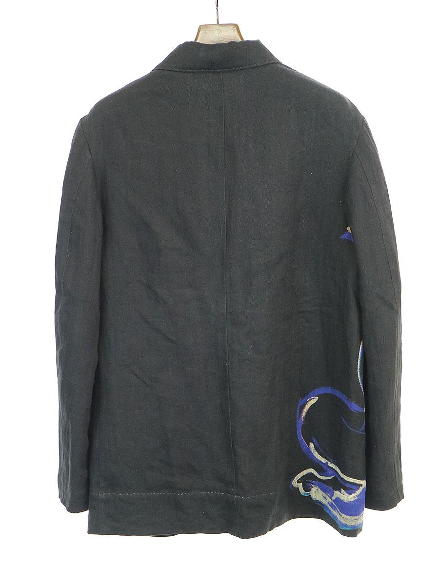 LOOK3 朝倉優佳 ドローイングプリントリネンシャツジャケット
