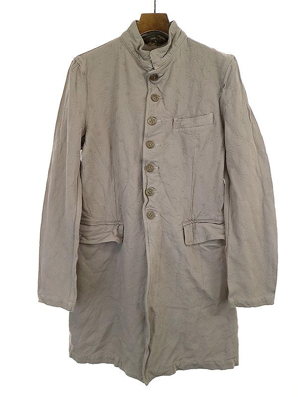 ジャガード織りポリエステル縮絨コート