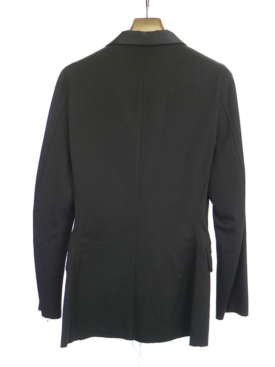ショールカラー切りっぱなし加工1Bジャケット