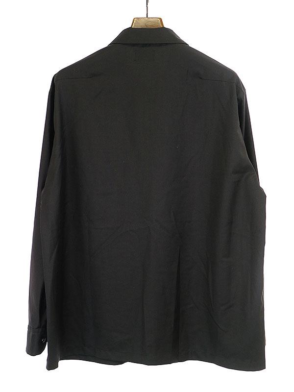 クリアツイルビッグシルエットジップアップシャツジャケット