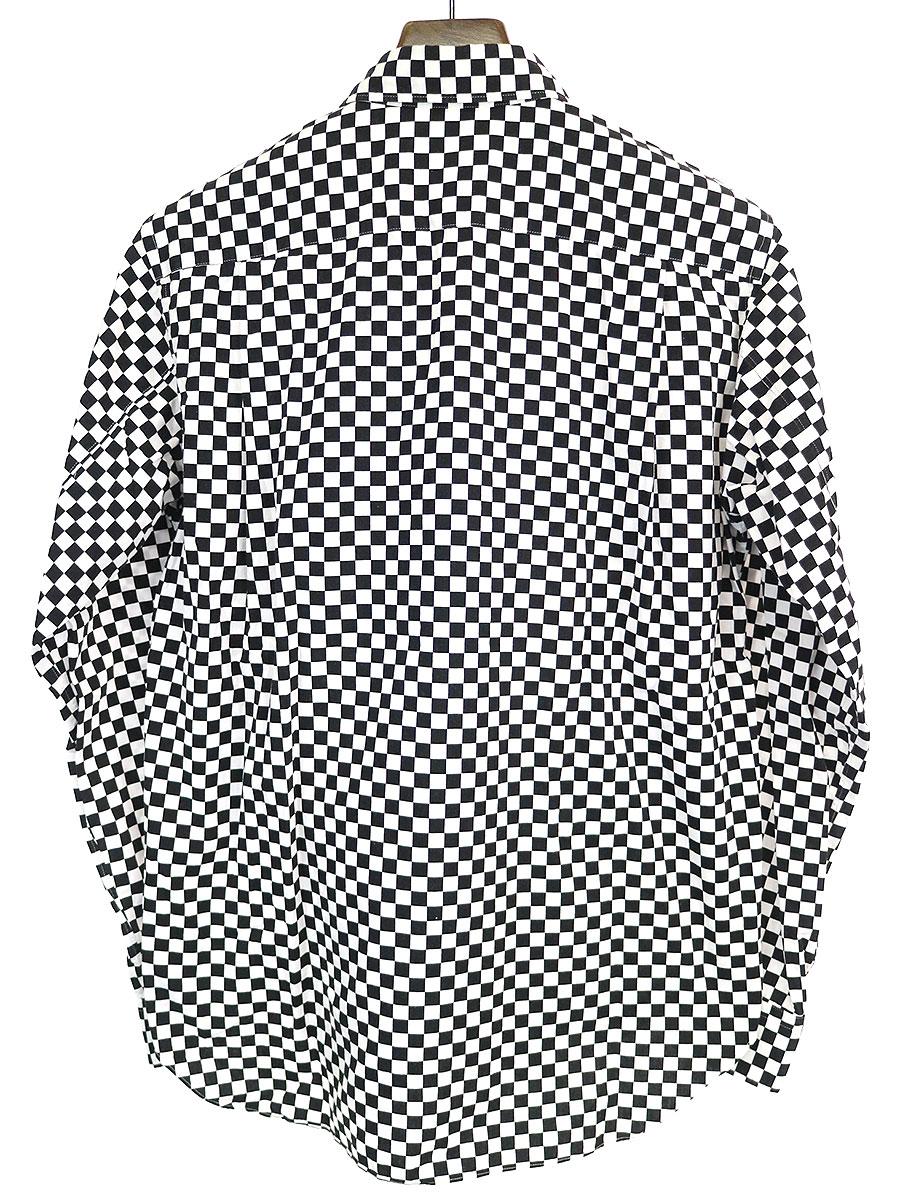フラワー刺繍チェックシャツ