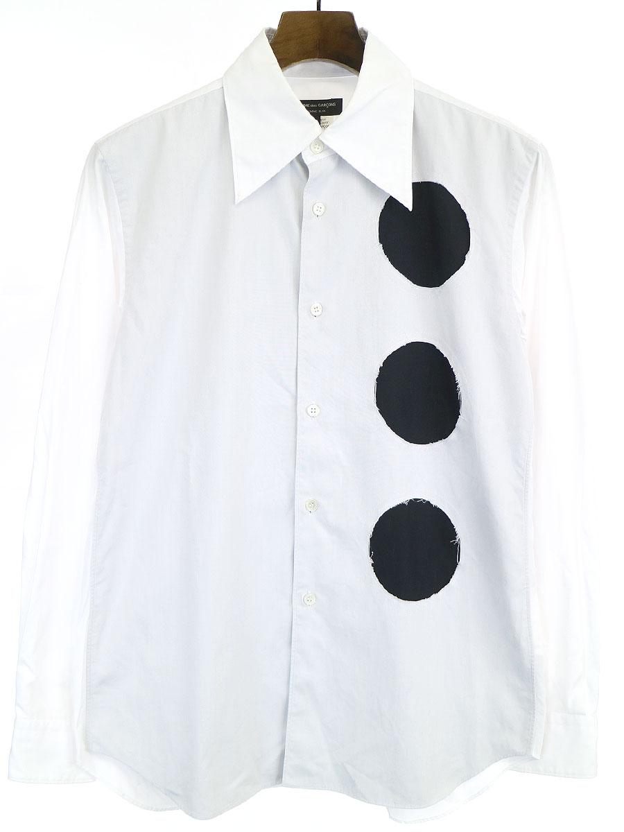 コットンブロードカットデザインシャツ