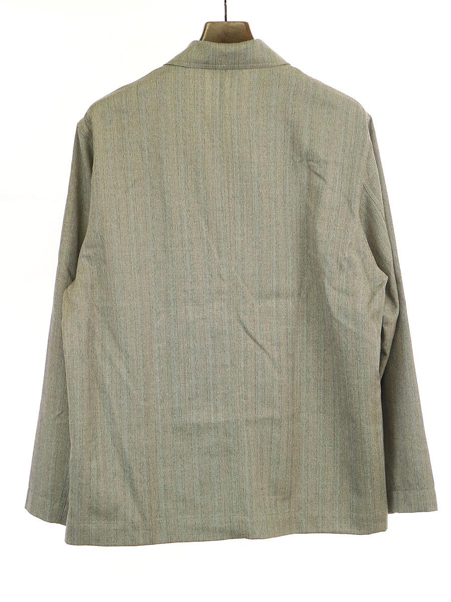 WOOL SILK HERRINGBONE COVERALL シャツジャケット