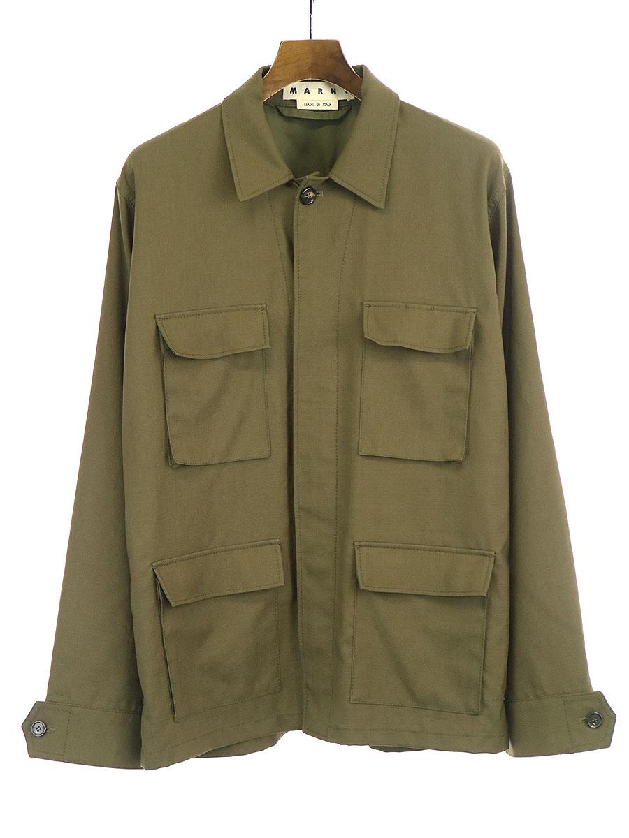 トロピカルウールミリタリーシャツジャケット