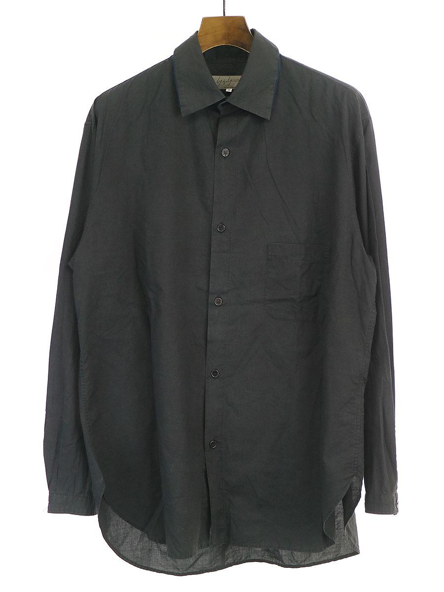 Hidden Collar Button Shirt 2WAYカラーコットンシャツ