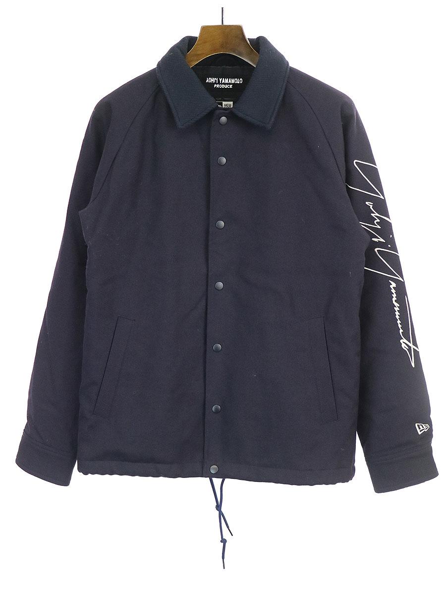 シグネチャーロゴ刺繍ウールコーチジャケット