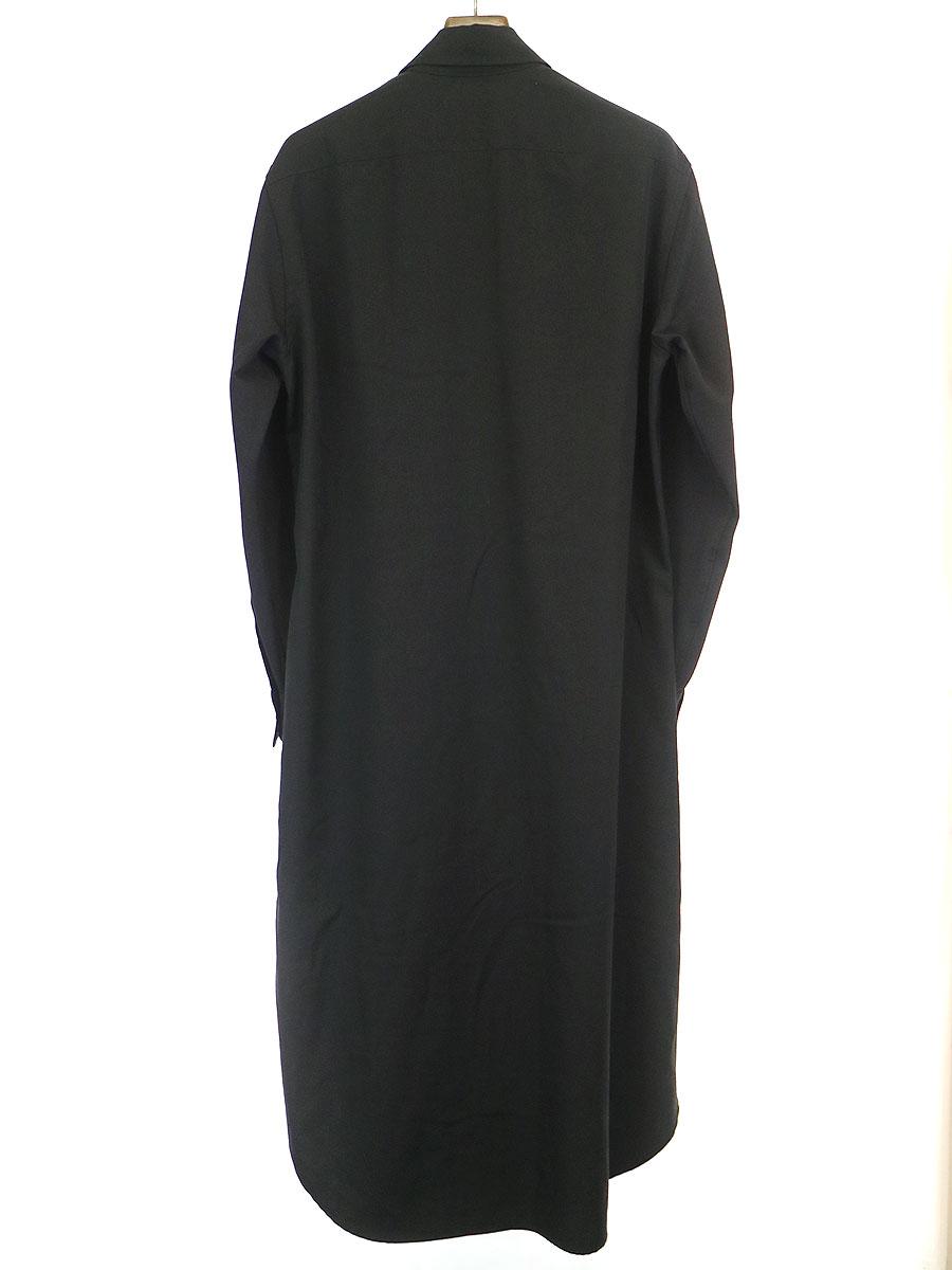 ウールギャバジンロングシャツ