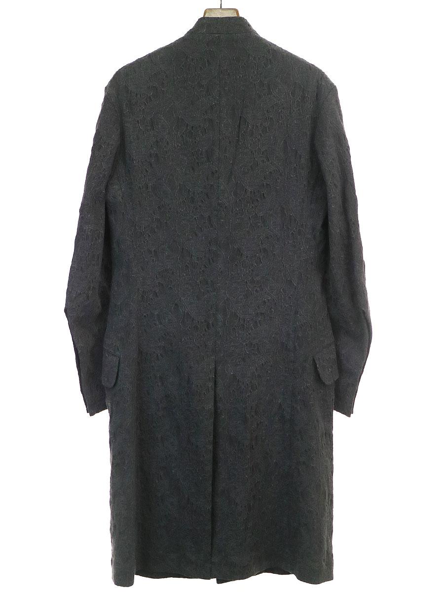 LOOK24 ビジュー装飾ジャカードロングジャケット