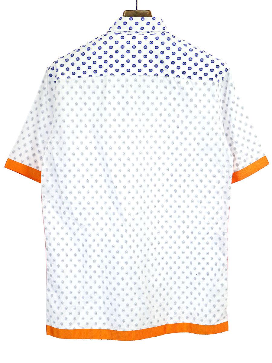 グログランテープ総柄半袖シャツ