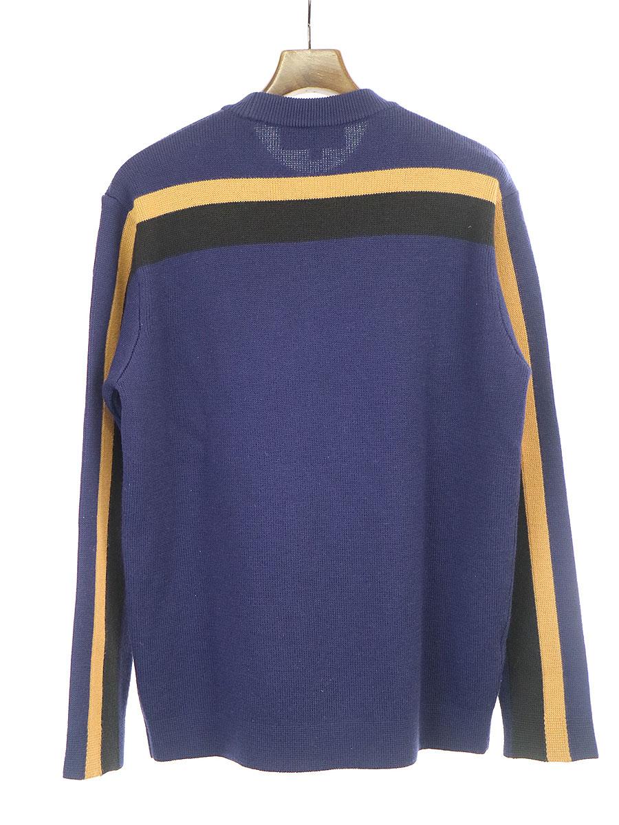 STRIPE CREWNECK SWEATER ストライプクルーネックニットセーター