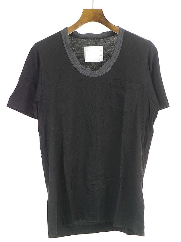 ネックキュプラ切替Tシャツ