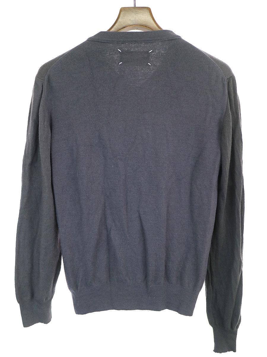 マルチカラーVネックニットセーター
