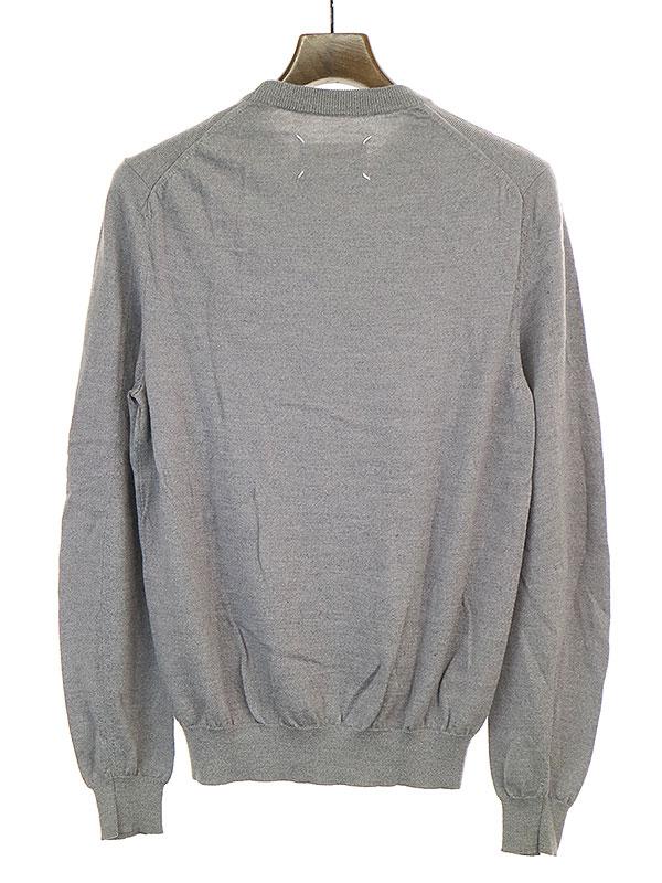 ウールクルーネックニットセーター